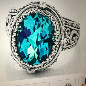 Artisan Gem Collection Rainbow Blue Ring